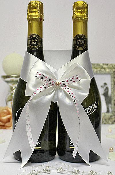 Связать шампанское на свадьбу