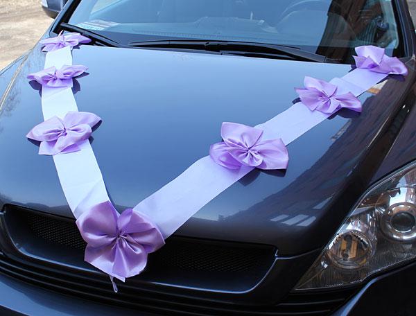 Как из лент сделать украшение на машину на свадьбу своими руками