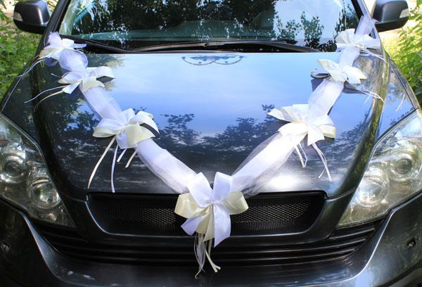 Лента свадебная на капот