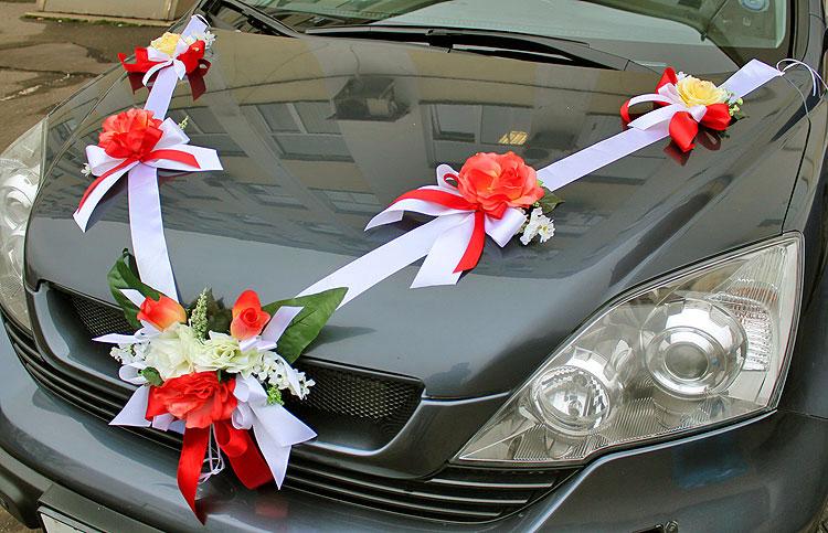 Ленты на свадебные машины гостей своими руками7
